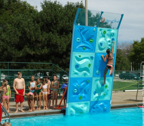 AquaClimb Adds a Rock Climbing Wall to your Pool