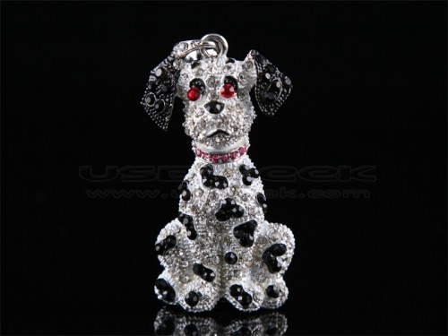 Blinged Dalmatian USB Flash Drive