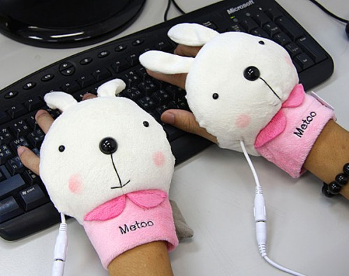 bunny usb hand warmer 500x395 Bunny and Bear USB Hand Warmers are Sure to Earn You Respect at the Office