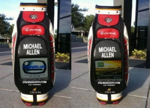 Ad Playing LCD Screens on Golf Bags