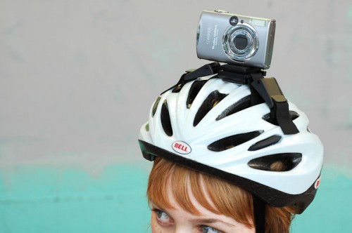 Happy Helmet Bike Camera Mount Makes You Look a Bit Like a Teletubby