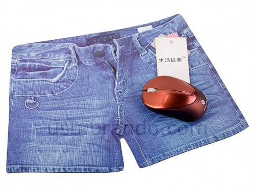 jean shorts mousepad