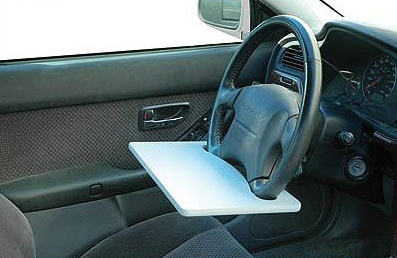 laptop steering wheel desk Laptop Steering Wheel Table