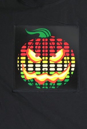 LED Sound Activated Pumpkin Shirt