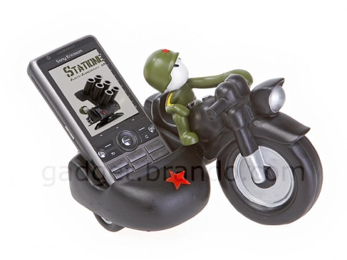 Motorcycle with Sidecar Cell Phone Holder