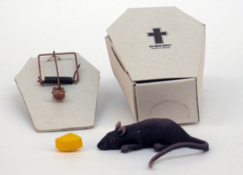 Mousetrap Coffin Tells It Like It Is