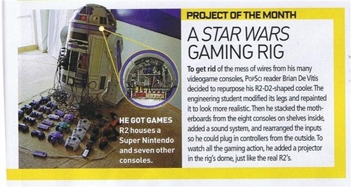 R2-D2 Gaming Rig Holds a Mere Eight Video Game Consoles