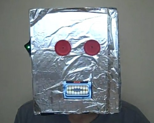 Robot Mask with iPhone Moving Mouth