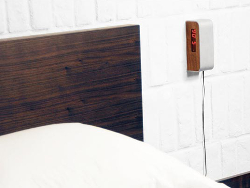 sideways alarm clock Sideways Mounting Alarm Clock Lets You See the Time Without Rolling Over