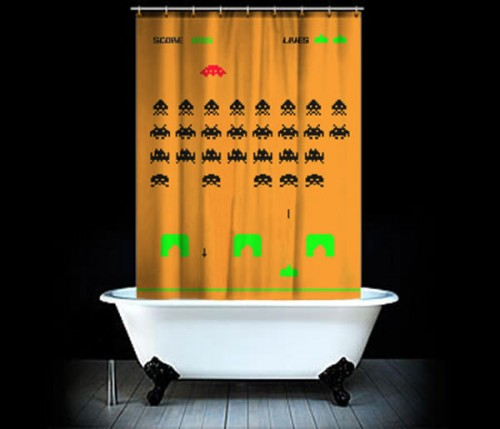 space invaders shower curtain 500x429 Pinboard