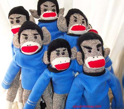 Spockmonkey is a Spock Sock Monkey