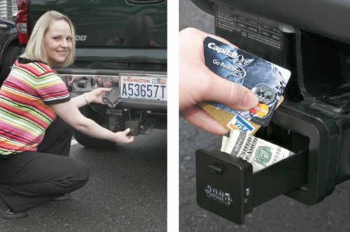 Hitch Safe Lets You Store Valuables Safely in your Trailer Hitch
