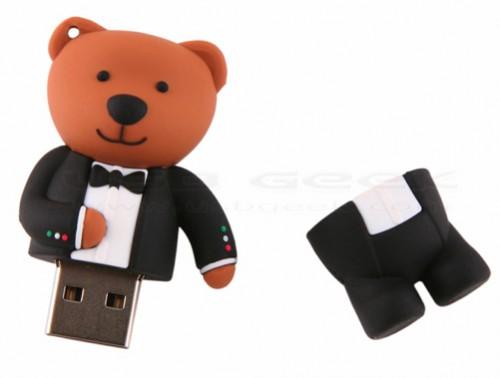 Tuxedo Bear USB Flash Drive