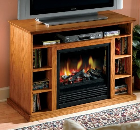 TV Stand Media Center with Built in Fireplace