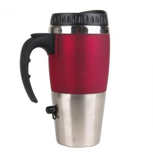 Excalibur Travel Mug with USB Charger Keeps Your Drinks Hot in the Office or on the Go