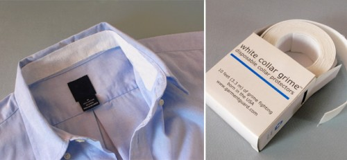 White Collar Grime Disposable Collar Protectors