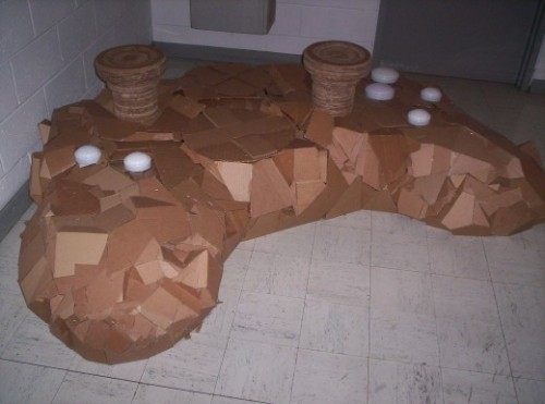 Cardboard X-Box Controller Chair