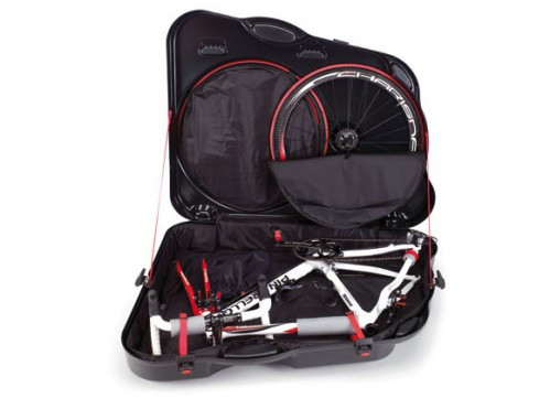 bicycle suitcase open