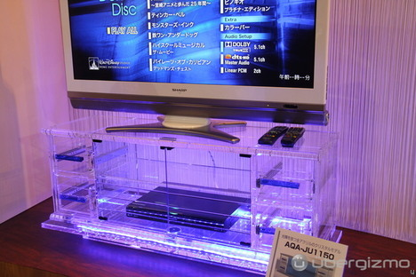 Clear Acrylic TV Stand