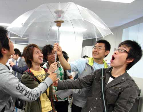 Funbrella Makes Virtual Reality Rain Inside the Umbrella