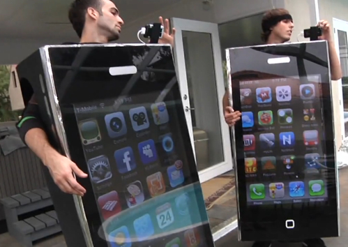 42″ Flatscreen TV Turned into a Wearable iPhone Costume