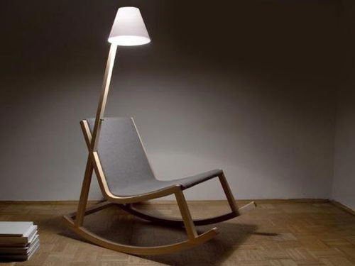 lamp powered rocking chair