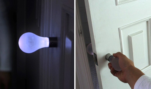 Lightbulb Doorknob- A Horribly Great Idea