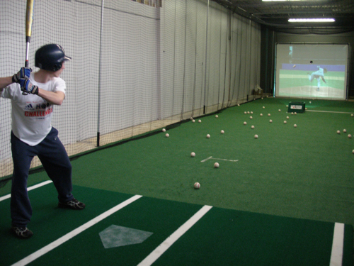 ProBatter Pitching Machine with Live Pitcher Simulation