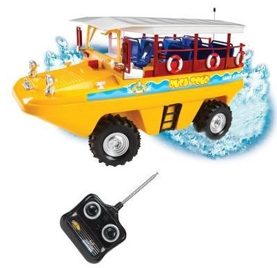 RC Duck Tour Boat is Amphibious