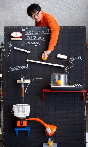 rube goldberg breakfast machine 301x500 Rube Goldberg Machine Makes You a Complete Breakfast