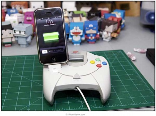 Sega Dreamcast Controller iPhone Dock Mod