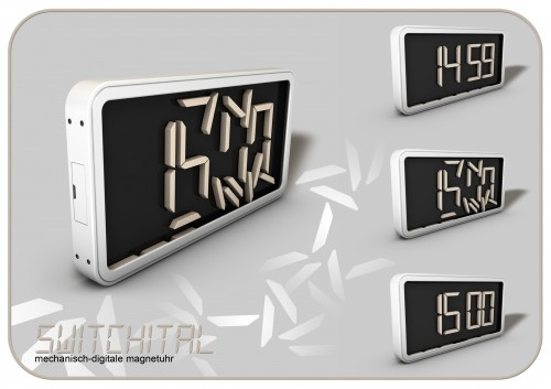 switchital clock Pinboard