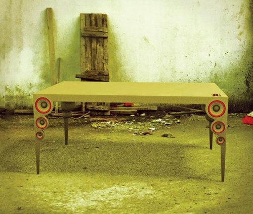 Coffee Table with Speaker Legs