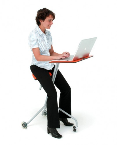 Zoom Around the Office on a Tricycle Desk