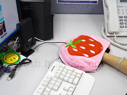 USB Strawberry Mouse Pad Warmer- I'd Rather Freeze First