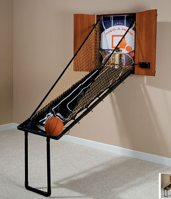 fold out basketball