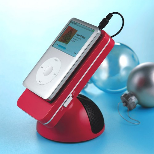 iPod Speaker with Grippy Surface Stand