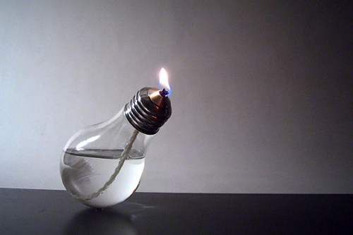 lightbulb lamp Lightbulb Turned Oil Lamp