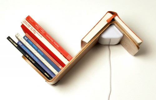 Lili Lite is a Bookshelf, Reading Light and Bookmark