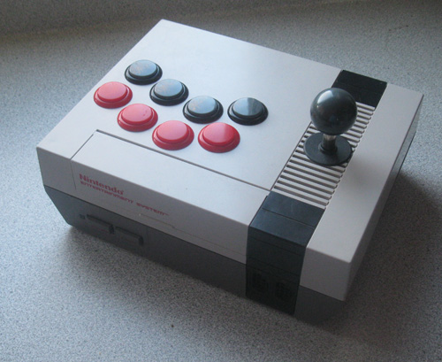 NES Console Modded into an Arcade Stick