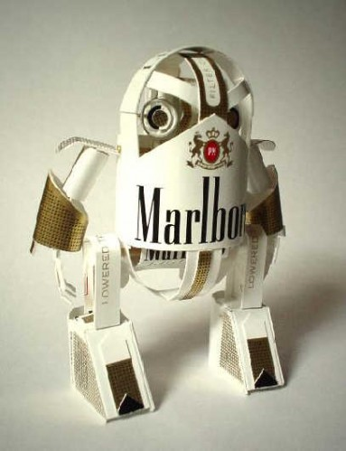 Incredible Papercraft Robots Made from Product Packaging