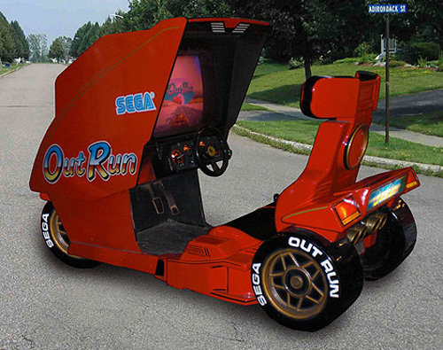 OutRun Arcade Cabinet Being Modded into a Drivable Vehicle