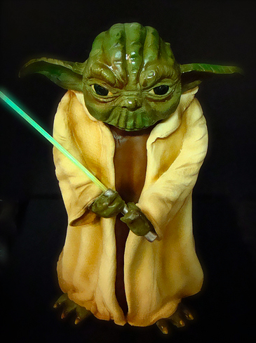 Yoda Cake with Lightsaber