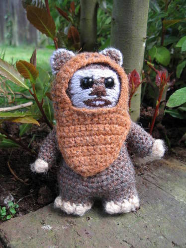 Crocheted Wicket the Ewok Amigurumi