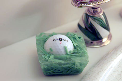 golf ball soap