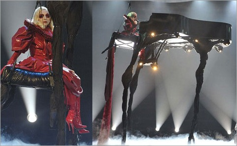 lady gaga tall piano