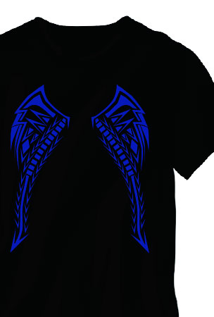 Light Up LED Sound Activated Tribal Wings T-Shirt