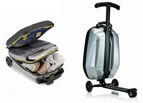 Bring Your Own Airport Transportation with a Suitcase with an Integrated Scooter