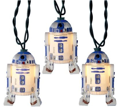 R2D2 or Yoda Christmas Lights