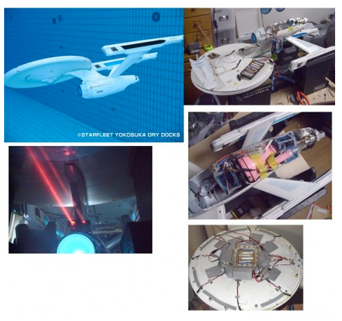 RC Star Trek USS Enterprise Modded into a Submarine